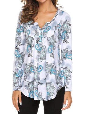 0263bed14ae Product Image LMart Autumn Women Floral Printed Long Sleeve V Neck Blouse  Shirt