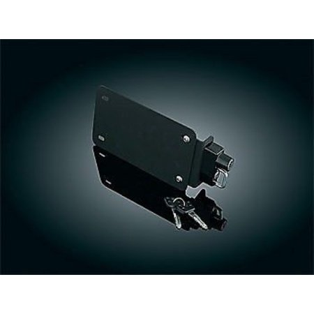 Kuryakyn 4248 License Plate Mounting Plate With Helmet Lock