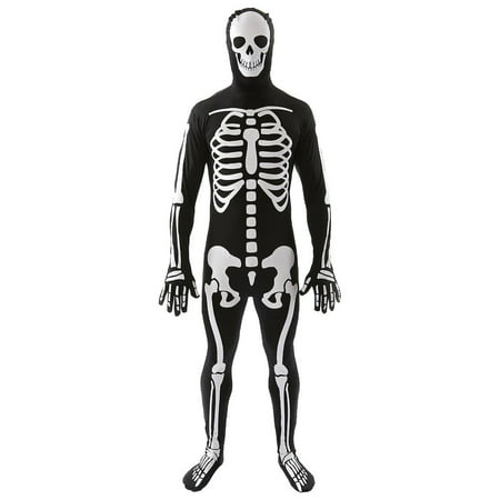 Classic Skeleton Adult Costume Skin Suit - Medium - Skeleton Suits