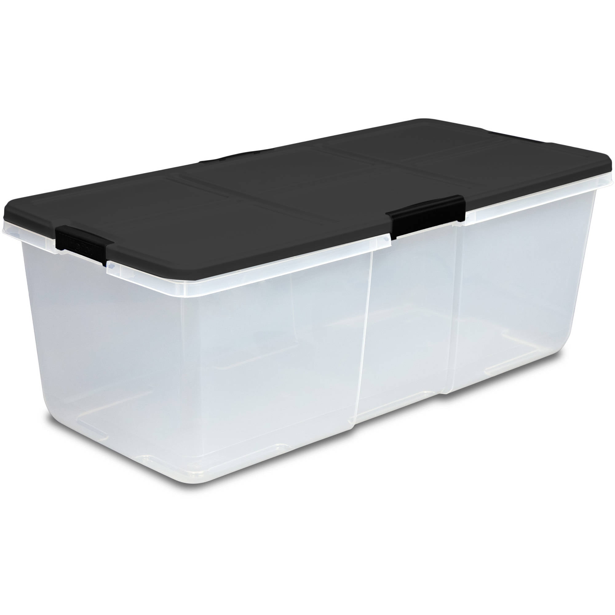 Hefty MATTE Black Storage Bins 100 Qt. XL Stackable Bin with Latch Clear - Walmart.com  sc 1 st  Walmart & Hefty MATTE Black Storage Bins 100 Qt. XL Stackable Bin with Latch ...