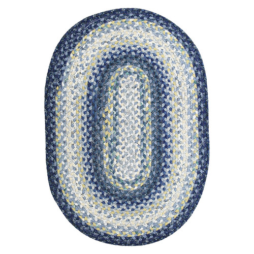 Homespice Decor Cotton Braided Wedgewood Rug