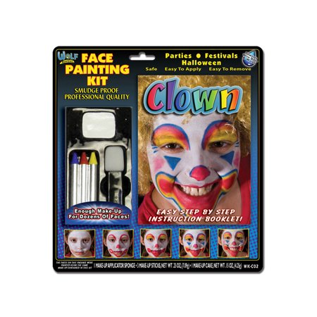Wolfe Clown Face Painting Kit (Painting A Clown Face)