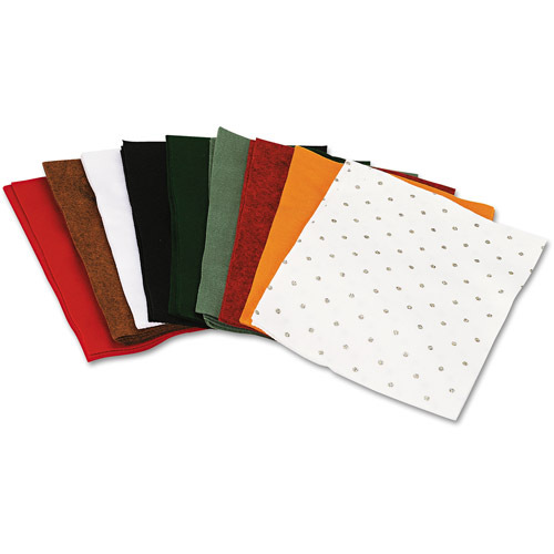"Chenille Kraft One-Pound Felt Sheet Pack, Rectangular, 9"" x 12"", Assorted Colors"