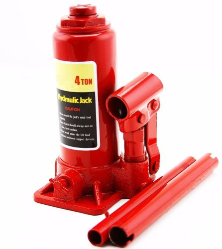 """GHP 6.5""""-12.35"""" Lift Height Steel 4-Ton Capacity Hydraulic Bottle Jack with 2 Handles"""