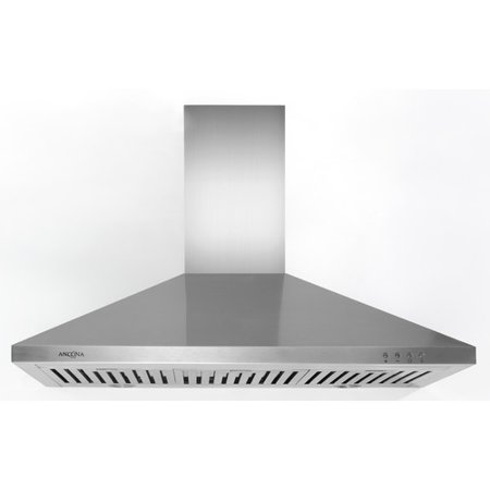ancona an-1165 rapido iv pyramid 630 cfm wall mount range hood, 36, stainless steel