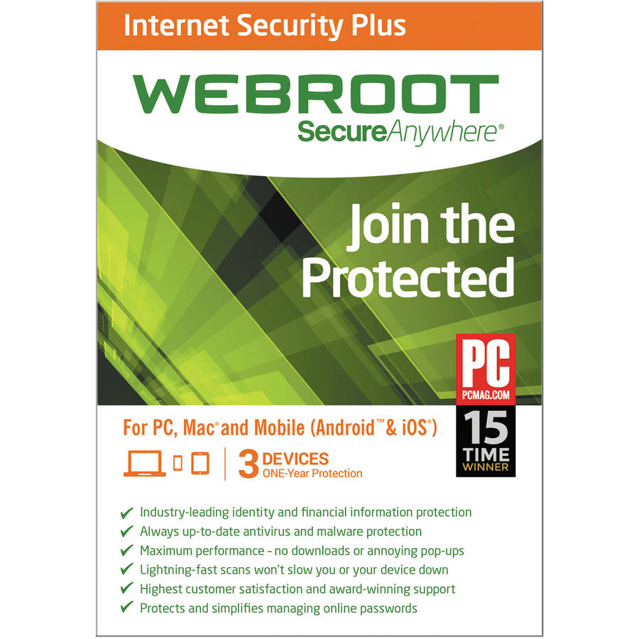 Webroot SecureAnywhere Internet Security Plus 3U(Email Delivery)