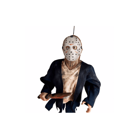 Jason Voorhees Hanging Friday The 13Th Halloween Prop Decoration Decor - 1 2 Off Halloween Decorations