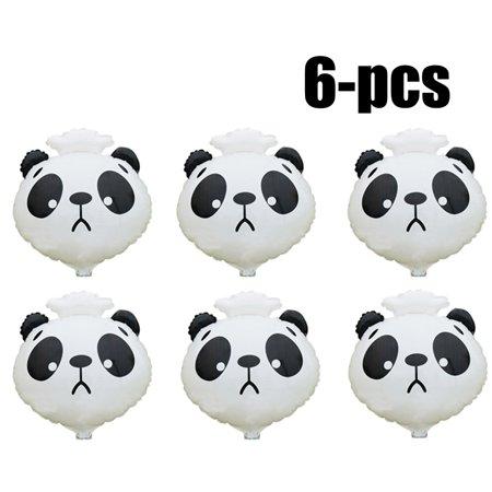 6Pcs 20'' Party Animal Balloon Cartoon Panda Birthday Balloon Decoration Balloon Party Decor Balloon for $<!---->