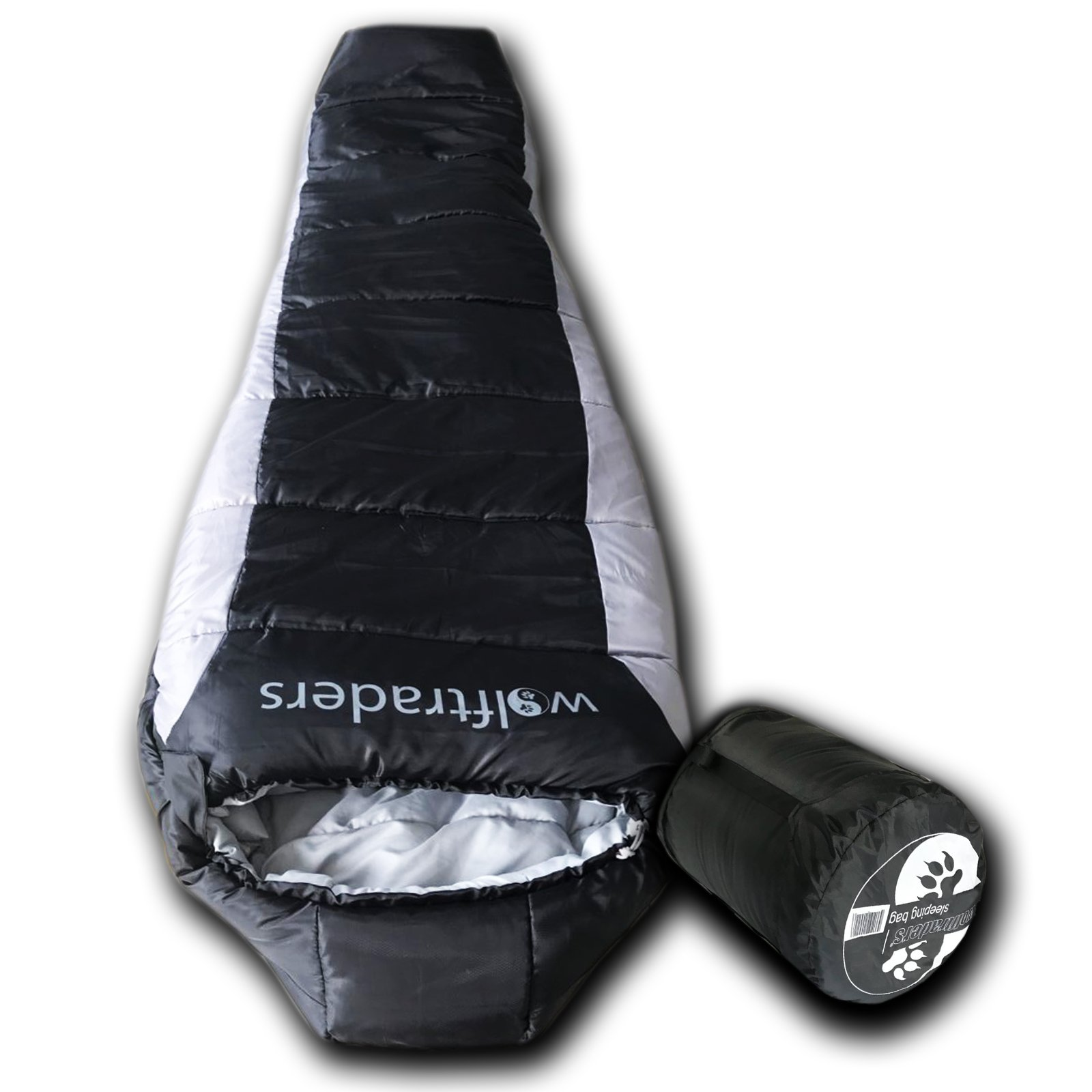 Wolftrders LoNewolf -20 Degree Lightweight Synthetic Mummy Sleeping Bag by Wolftraders Inc
