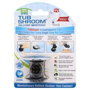 TubShroom Chrome Edition Revolutionary Tub Drain Protector Hair Catcher, Strainer, Snare, Black