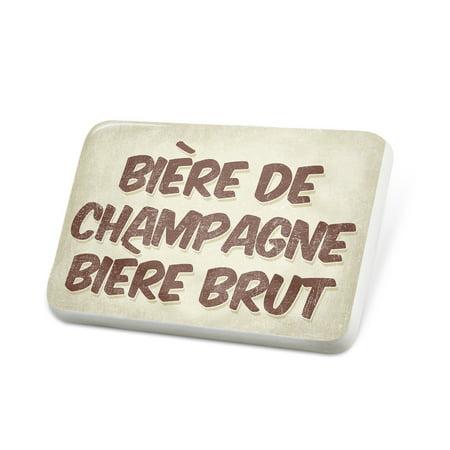 Porcelein Pin Bière de Champagne Bière Brut Beer, Vintage style Lapel Badge – NEONBLOND