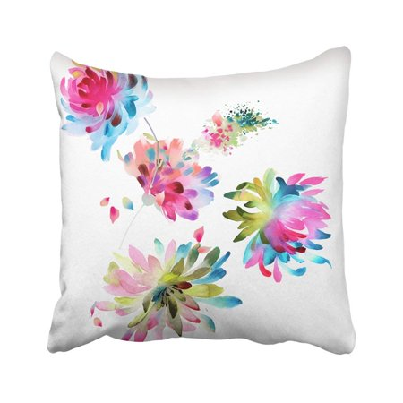 Ink Drawing Sets - ARTJIA Blossom Flower Deformation Drawing Gouache Ink Painting Leaf Nature Painting Pillowcase Cover 18x18 inch