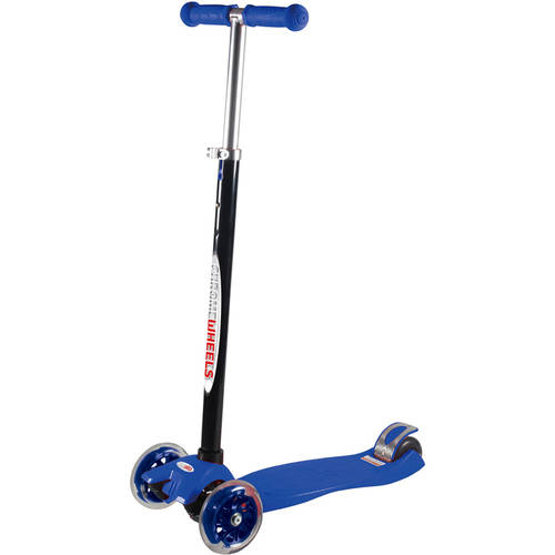 Vertigo 3-Wheel Scooter Glider with Light Up Wheels, Ages 6+ , Assorted Colors by MP3 WORLD CORP