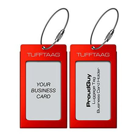 Luggage tags business card holder tufftaag pair travel id bag tag in luggage tags business card holder tufftaag pair travel id bag tag in 8 color options reheart Choice Image
