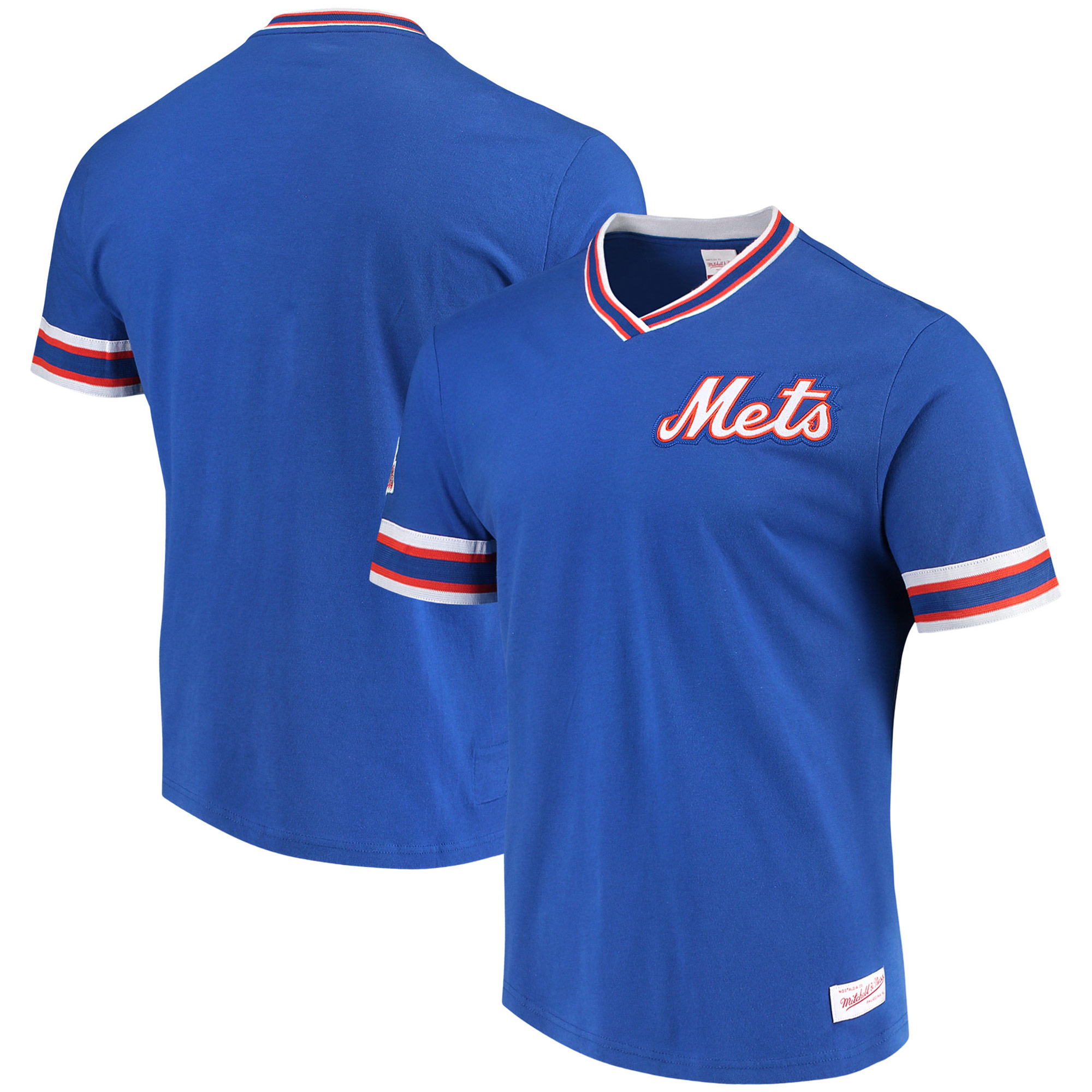 New York Mets Mitchell & Ness Overtime Win Vintage 2.0 T-Shirt - Royal