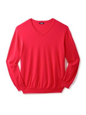 KingSizeMen's Big & TallPima V-Neck Sweater
