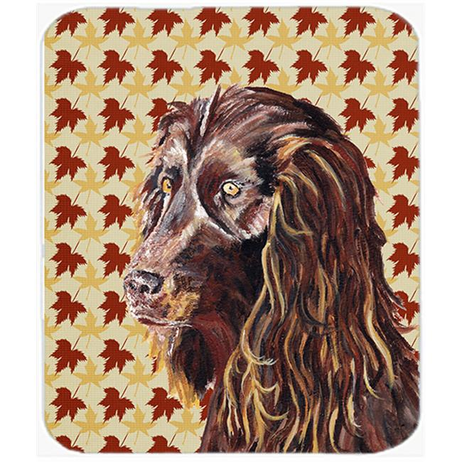 7.75 x 9.25 In. Boykin Spaniel Fall Leaves Mouse Pad, Hot Pad or Trivet - image 1 de 1