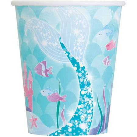 9oz To Cups (9oz Paper Mermaid Cups, 8ct)