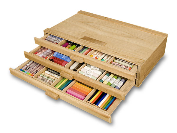 Creative Mark 3 Drawer Pastel Box Sturdy Stackable Wood Storage Box For Pastels Art Tools  sc 1 st  Walmart.com & Creative Mark 3 Drawer Pastel Box Sturdy Stackable Wood Storage Box ...