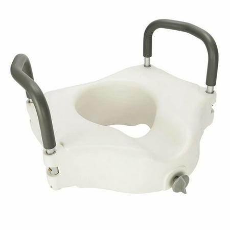 Highline Comfort Height Toilet - Raised Toilet Seat With Handles, Adds Toilet Height, Toilet Seat Riser For Elderly or Handicap