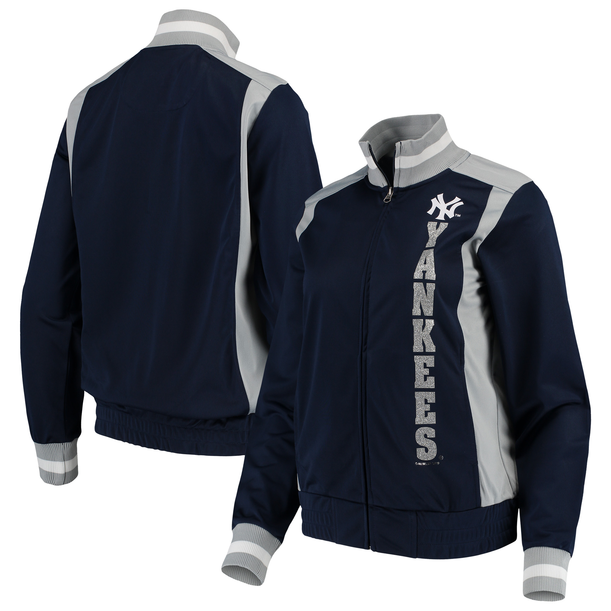 New York Yankees G-III 4Her by Carl Banks Women's On Deck Full-Zip Track Jacket - Navy