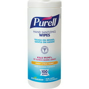 PURELL®, GOJ911112EA, Textured Sanitizing Wipes, 100 / Each, White