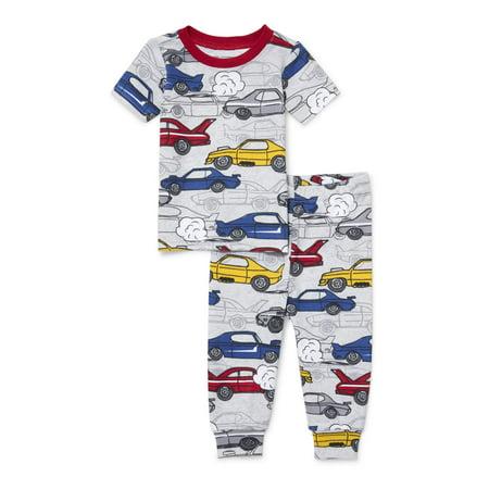 Baby And Toddler Boys Racecar Print Snug-Fit PJ Set (Baby and Toddler - Boys Sleepware