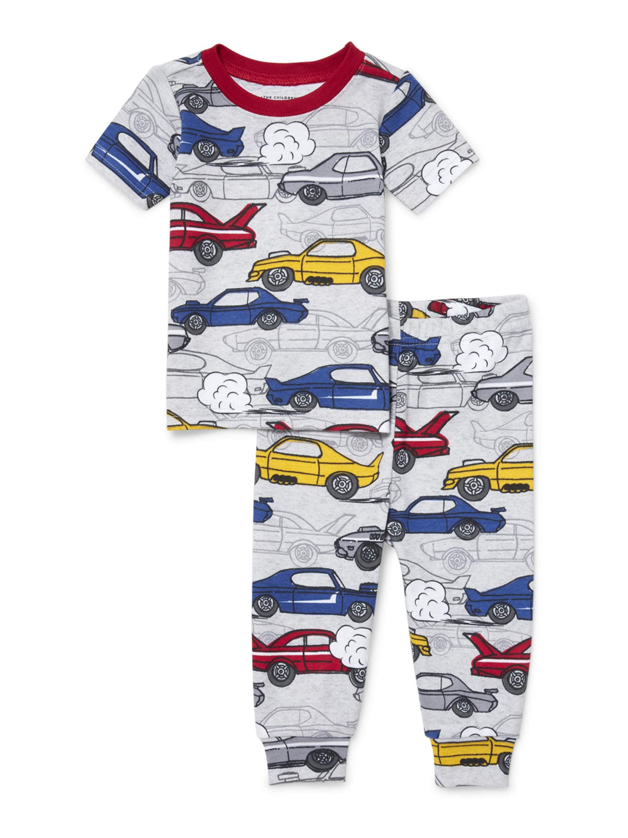 Baby And Toddler Boys Racecar Print Snug-Fit PJ Set (Baby and Toddler Boys)