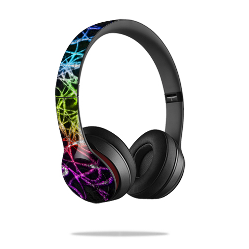 Mightyskins Protective Vinyl Skin Decal Cover for Dr. Dre Beats Solo2 Headphones wrap sticker skins Neon