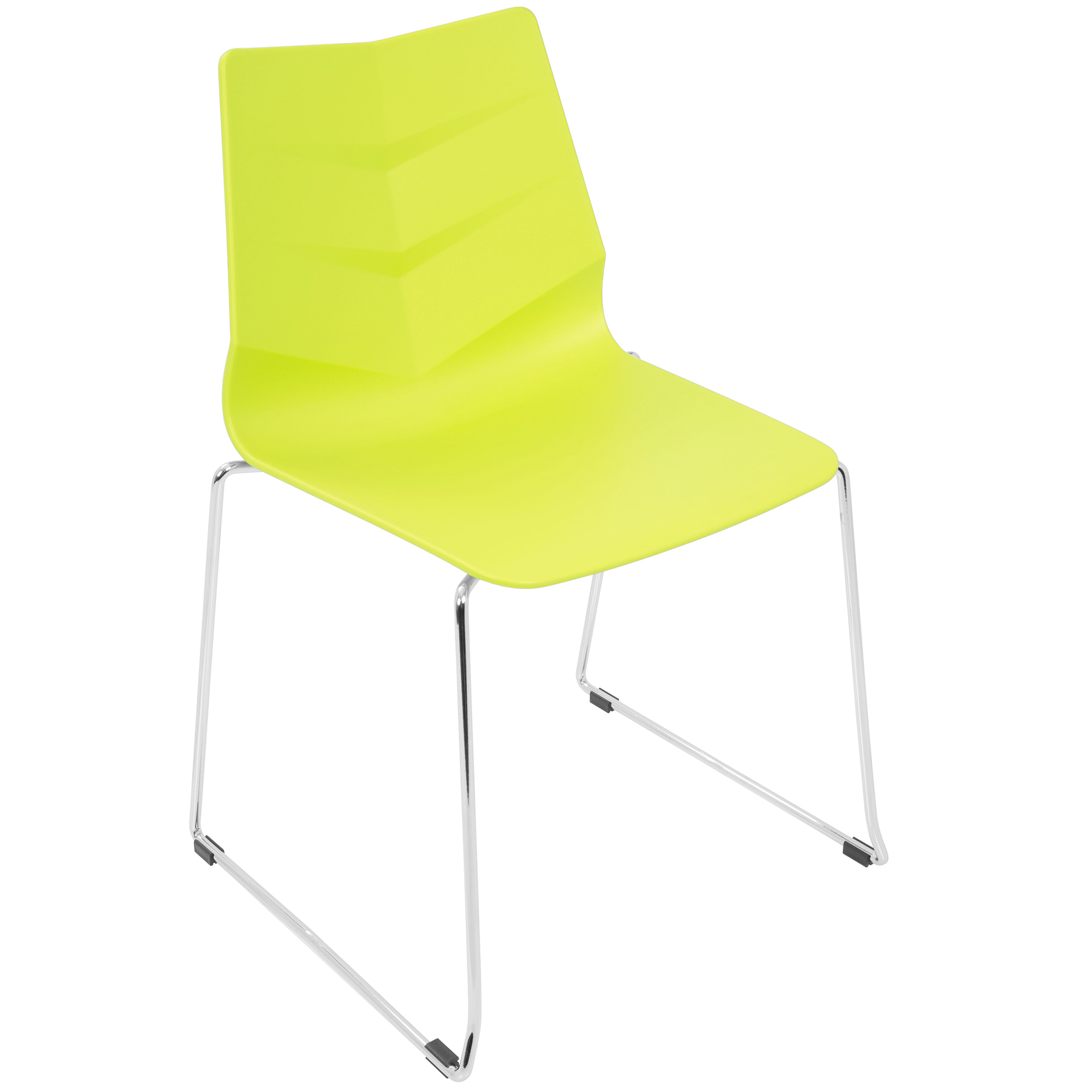 Arrow Contemporary Dining Chair in Lime Green by Lumisource Set of 2 by LumiSource