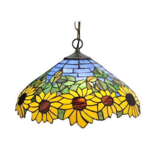 "Meyda Tiffany 119560 16"" W Wild Sunflower Pendant by Meyda Tiffany"