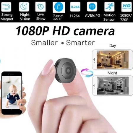 2019 Newest HD 1080p Wireless Mini Security Camera IR Night Vision,Two-way Audio,Support Onvif and APP