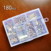 SANWOOD 180Pcs/Set Sawtooth Hanger D-Rings Hooks Nail Picture Frame Hanging Hardware Kit