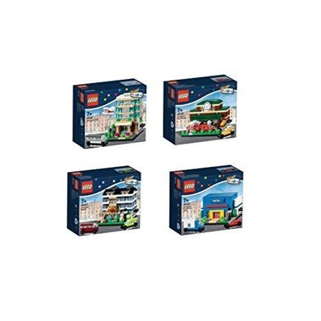 Lego Exclusive 2015 Bricktober Set Of Four   Hotel  40141   Train Station  40142   Bakery  40143   Toysrus  40144
