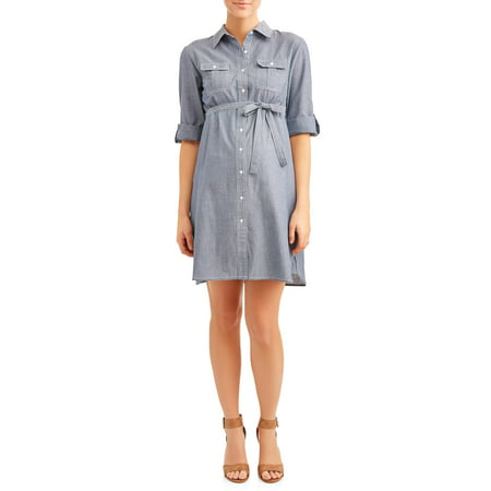 Maternity Chambray Dress - Available in Plus - Maternity Masquerade Dresses