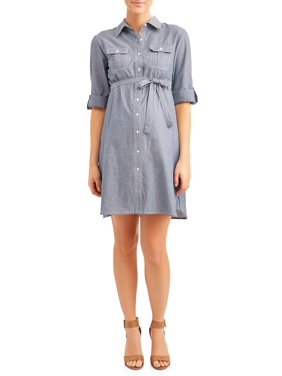 eb35f6838a4 Product Image Maternity Chambray Dress - Available in Plus Sizes