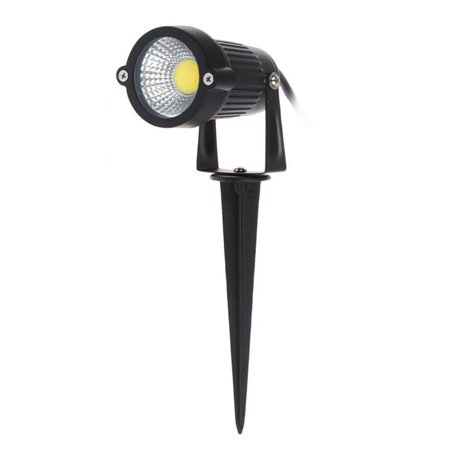 7W COB LED Lawn Lamp DC12-24V Outdoor Landscape Light Spot Light IP65 Water Resistance for Garden Patio Yard Courtyard White ()