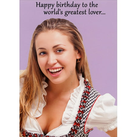Oatmeal Studios World's Greatest Lover Funny Birthday Card For Him ()