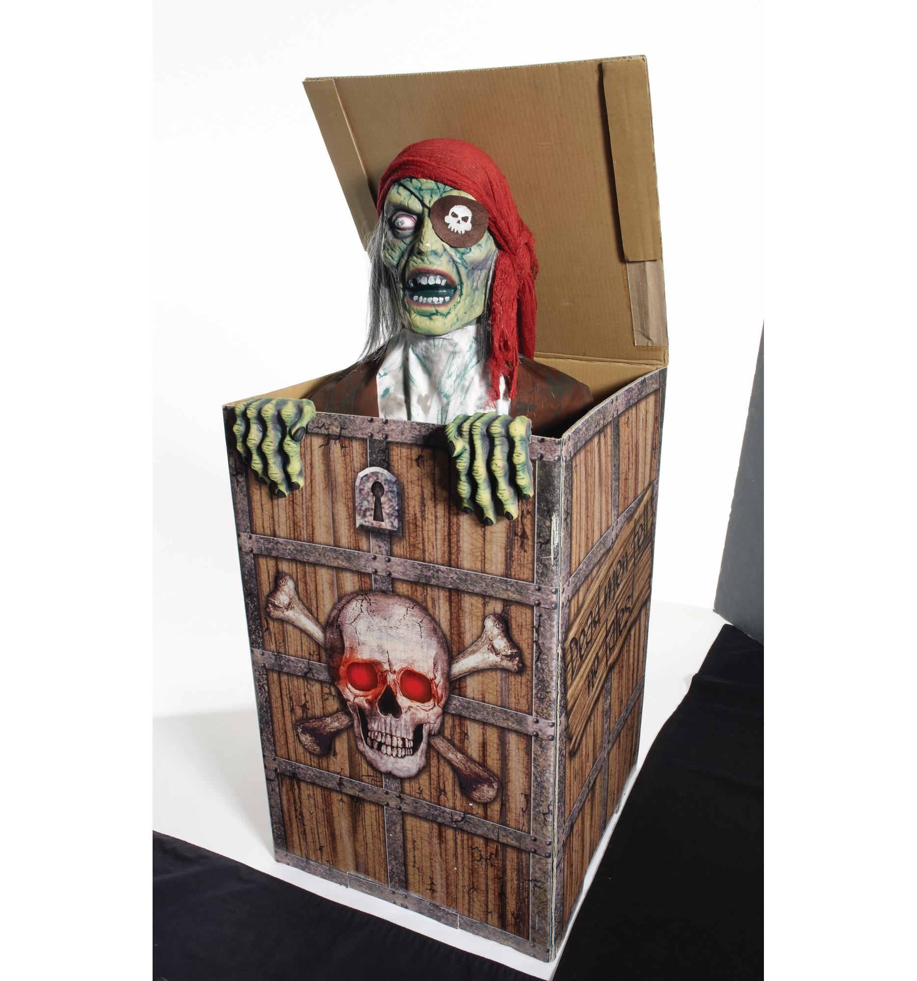 Scary Pirate In The Box Prop Decoration