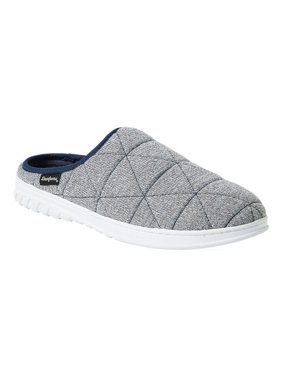 fb72266af132e Dearfoams Mens Heathered Knit Quilted Clog slippers