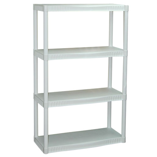 Good Plano 4 Shelf Storage Unit, White