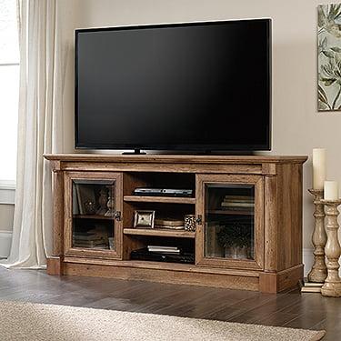 "Sauder Palladia Entertainment Credenza for TVs up to 60"", Vintage Oak Finish"