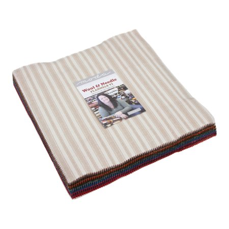 Heather Wool Flannel (Wool & Needle VI Flannels Layer Cake, 42-10 inch Squares by Primitive)