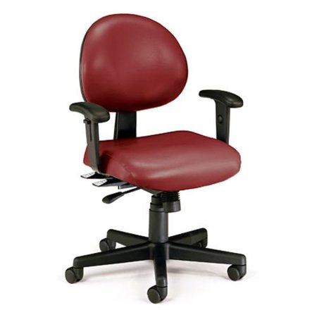 OFM 241VAMAAHF603 Wine 24 Hour AntiMicrobial/AntiBacterial Vinyl Task Chair w... - Ofm Antimicrobial Vinyl