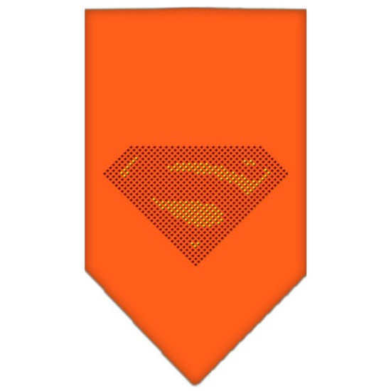 Super! Rhinestone Bandana Orange Large