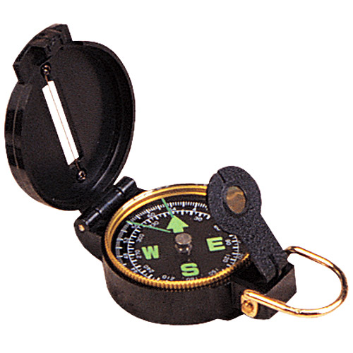 Stansport Lensatic Compass, Black Case