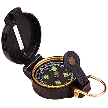 Stansport Lensatic Compass  Black Case