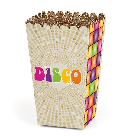 70's Disco - 1970's Disco Fever Party Favor Popcorn Treat Boxes - Set of 12 (Disco Party Supplies)