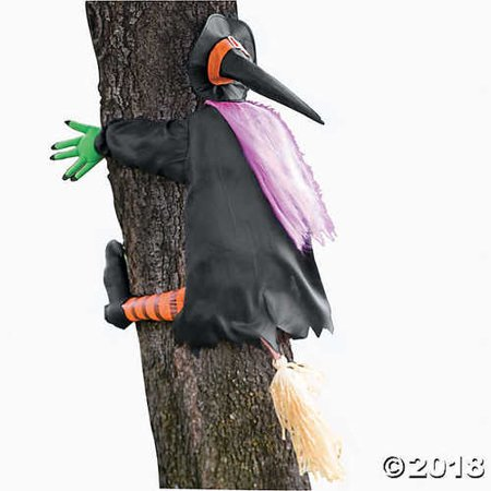 Betty Bash Crashing Witch Into Tree Halloween - Halloween Decorations Witches Lair