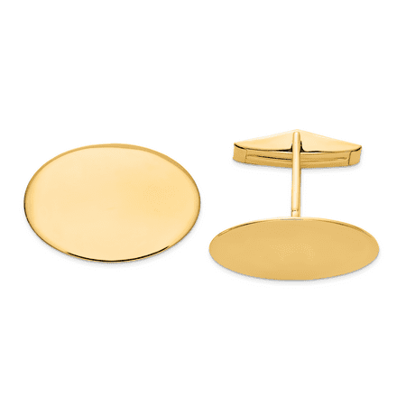 14k Yellow Gold Oval Cuff Links Mens Cufflinks Man Link Fine Jewelry Dad Mens Gift Set